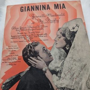 Giannia Mia sheet music - 1937